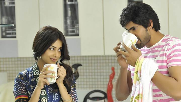 Genelia D'Souza And Rana Daggubati Drinking Coffee In Naa Ishtam